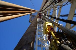 Erdgas tritt als Nebenprodukt bei der Ölbohrung auf