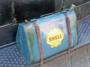 Ein Oldtimer Tankkanister.