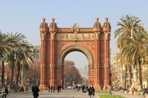 Der Triumphbogen in Barcelona