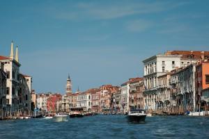 Der Canale Grande in Venedig.