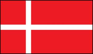 Die Flagge Dänemarks.