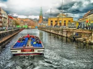 Ein Kanal in Kopenhagen.