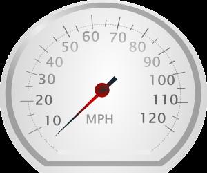 Geschwindigkeiten werden in England in mph und nicht in km/h angegeben.