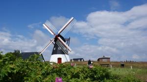 Eine Windmühle an der Nordsee bei Roemoe