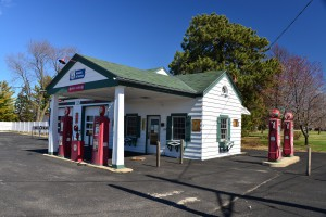 Tankstelle an der Route 66 in Illinois.