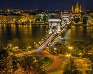Kettenbrücke in Budapest der Hauptstadt Ungarns.