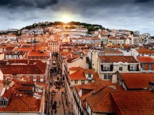 Touristen Tanken in Portugal Sonne nicht nicht in der Hauptstadt L.issabon