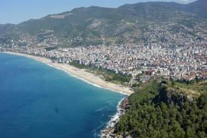 Der Strand bei Alanya in der Türkei.