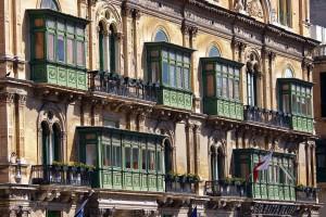 Architektonisch schöne Balkone in Valletta.