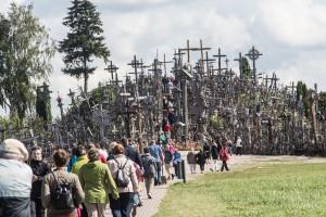 Der Berg der Kreuze ist ein beliebter Wallfahrtsort.
