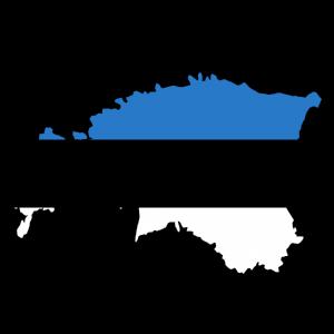 Die Flagge von Estland.