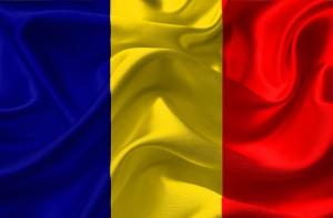 Die rumänische Flagge.