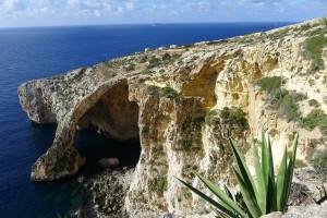 Ein Ausblick auf der Insel Gozo.