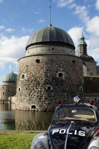 Eine Burg in Västervik in Schweden.