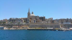 Ein Ausblick auf die Hauptstadt Valletta.