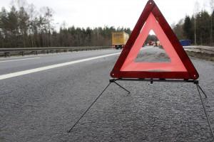 Bei Unfall oder Panne sollte man möglichst schnell den Ort durch das Aufstellen eines Warndreieckes absichern.
