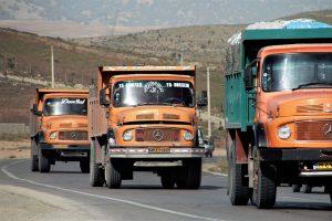 LKW-Diesel ist im Iran mit ca. 8 Cent je Liter besonders günstig.