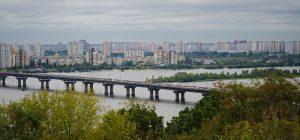 Die Landeshauptstadt Kiew.