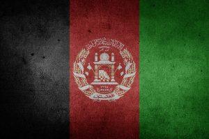Die Landesflagge von Afghanistan.