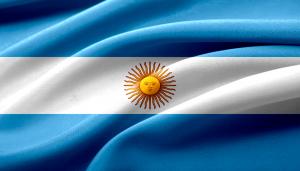 Die Landesflagge Argentiniens.
