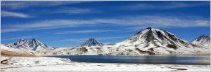 Das Gebirge der Anden in Chile.