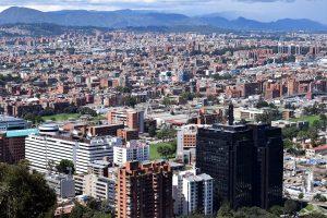 Die Landeshauptstadt Bogotá.