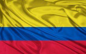 Die Landesflagge Kolumbiens.