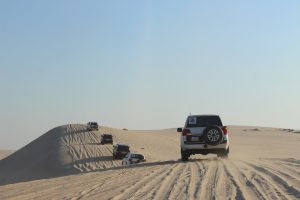 Reisen in die Wüste sollte man nur mit einem Geländewagen und ausreichend Vorbereitung unternehmen.