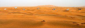 Die Wüste von Dubai.