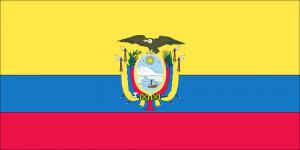 Die Landesflagge von Ecuador.