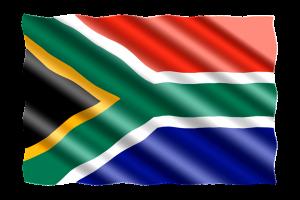Die Flagge von Südafrika.