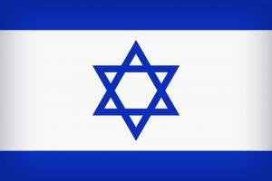 Die Landesflagge Israels.
