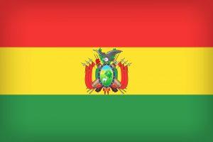 Die Landesflagge Boliviens.