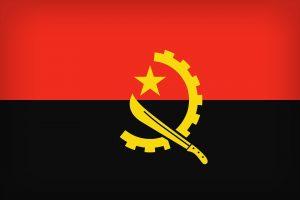 Die Landesflagge Angolas.
