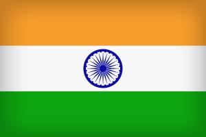 Die Landesflagge von Indien.