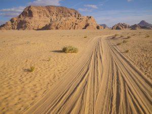 Die Wüste Wadi Rum in Jordanien.