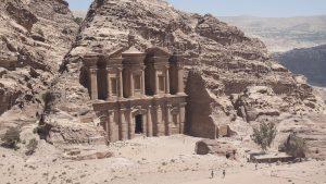 Die Felsenstadt Petra in Jordanien.