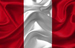 Die Landesflagge Perus.