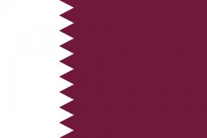 Die Landesflagge von Katar.