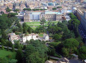 Die Vatikanischen Gärten.