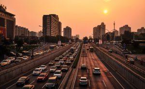In den großen chinesischen Städten ist das Verkehrsaufkommen sehr hoch, so dass man nur langsam voran kommt.