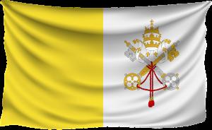 Die Flagge des Vatikans.