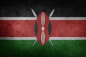 Die Landesflagge Kenias.