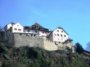 Das Schloss Vadu in Liechtenstein.