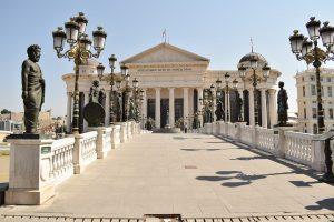 Skopje ist die Hauptstadt von Mazedonien.