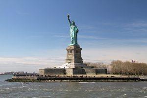 Die Freiheitsstatue als amerikanisches Symbol für Freiheit und Unabhängigkeit.